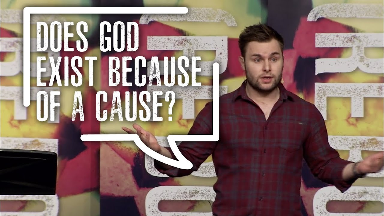 Does God exist because of a cause?