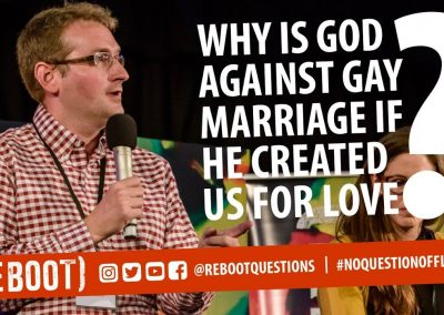 Why is God against gay marriage if he created us for love?